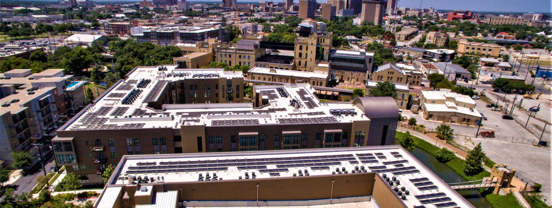the largest multifamily solar project in San Antonio